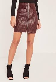 Quilted Zip Faux Leather Mini Skirt Burgundy | Missguided & Quilted Zip Faux Leather Mini Skirt Burgundy Adamdwight.com