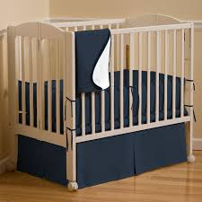 solid navy crib bedding