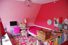 lovely pink walls teenage young girls bedroom decor decorating ideas