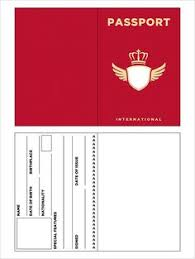 Free Passport Template For Kids Printable Passport Template Kids Pinteres 51