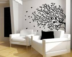 interior with stunning tree images wall art