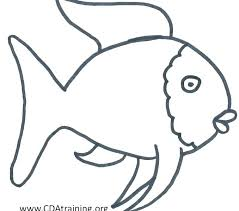 Rainbow Fish Color Page Rainbow Fish Template Coloring Pages Rainbow