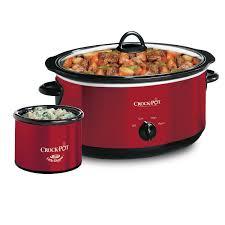 amazon com crockpot scv653 r manual slow cooker little amazon com crockpot scv653 r manual slow cooker little dipper warmer 6 5 quart red kitchen dining