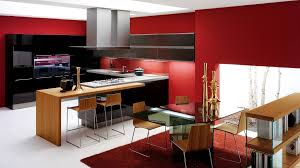 red kitchen decor for modern and retro kitchen design