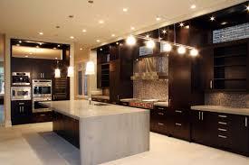 dark walnut kitchen cabinets black marble countertop cabinet island design ideas round black bar stool cream tile backsplash design idea home improvement