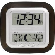la crosse technology digital wireless atomic clock with moon phase