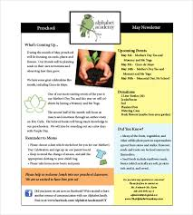 Newletter Example 12 Preschool Newsletter Templates Free Sample Example