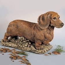 dachshund dog garden statue 24 h