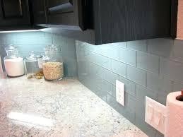 modern kitchen backsplash glass tile. Perfect Backsplash Blue Glass Tile Backsplash By Modern Shell  Mosaic Kitchen And I