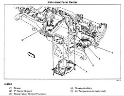 chevrolet trailblazer where is the ac actuator located on graphic