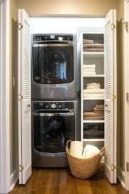 laundry closet doors closet with stacked washer and dryer laundry closet without doors