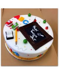 Books And Pencil Teachers Day Cake