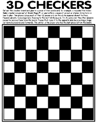 Small Picture 3D Checkers Coloring Page crayolacom