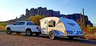 the luna trailer is a modern take on the classic teardrop shape courtesy of intechrv