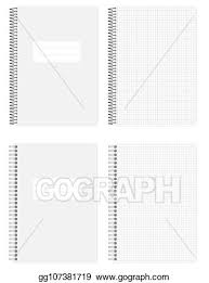 Clip Art Vector A4 Wire And Spiral Spring Bound Squared Paper