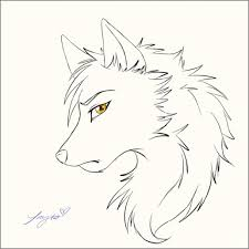картинки волки аниме для срисовки