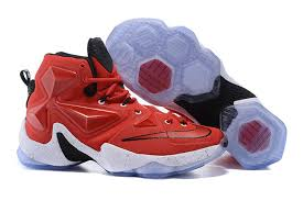 lebron red shoes. mens nike lebron james xiii nba shoes white red