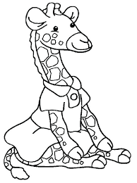Giraffe Coloring Pages Ntable Page Adult Giraffes Free Cute Cartoon