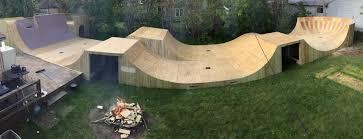 Backyard Skatepark Designs Backyard Bmx Ramp Ramped Construction