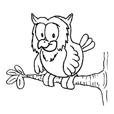Small Picture owl on a tree branch coloring page Download Print Online