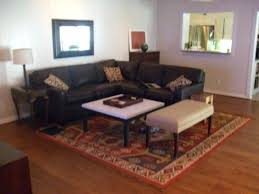 living room dark brown leather sofa which color of throw pillows goes with for sectional couch