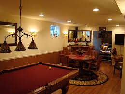 Wooden Games Room Interior Amazing Kitchen And Game Room Basement Design With Green 15