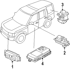 Genuine land rover module ran lr041416