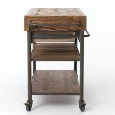 Kitchen island cart industrial Wheels Kitchen Carts And Islands Zin Home Industrial Reclaimed Wood Kitchen Island Cart On Wheels Zin Home