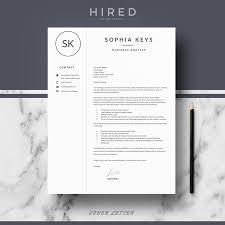 Business Analyst Modern Resume Template Minimalist Resume Archivos Hired Design Studio