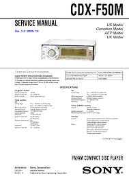 sony cdx 5040 5042 sm service manual schematics sony