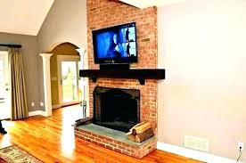 tv over fireplace installing