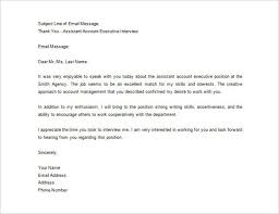 Interview Thank You Letter Template Thank You Letter All Form