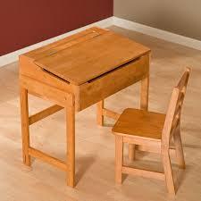 com premium children s schoolhouse desk and chair set pecan kitchen dining