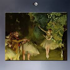 ballet rehearsal by edgar degas artist portrait wall painting art print on canvasfor wall picture