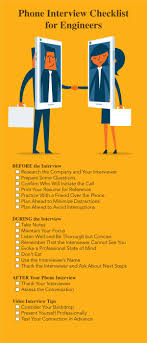 Employer Interview Checklist Phone Interview Tips For Engineers A Technical Recruiters
