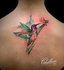 татуировка колибри акварель Chillout Tattoo Workshop