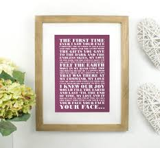 Paper Flower Lyrics Personalised Favourite Lyrics Poster By Over Over