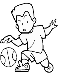 Kleurplaat Basketball 05 Clip Art Library
