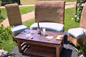 patio furniture with tall backs