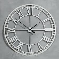 silver roman numeral wall clock oversized wall clocks in various sizes and designs to be stunned