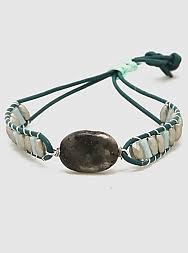 semi precious leatherette faceted bead bracelets
