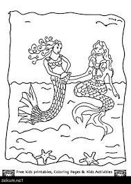 Disney Little Mermaid Coloring Pages Printable Mermaid Coloring