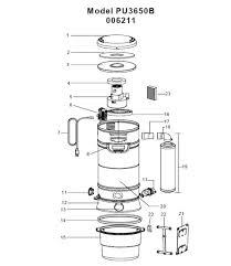 electrolux pu3650b 006211 central vac parts pu3650b