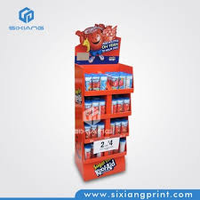 Floor Standing Display Units Impressive Juice Drink Free Standing Cardboard Floor Display Unit With Lcd