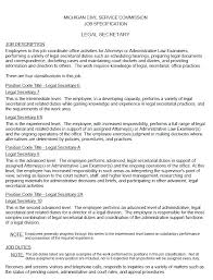 Resume Templates For Enchanting Admin Assistant Job Description Resume Paralegal For Template Legal