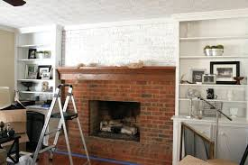 whitewash brick fireplace before and after tutorial how to whitewash a brick fireplace whitewash vs painting brick fireplace