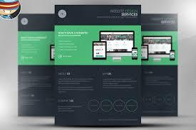 Services Flyer Flyer Web Design Dark Web Design Services Flyer Template On Behance