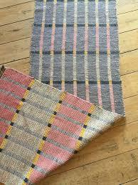 unique reversible vintage cotton rag rug swedish handmade hallway runner