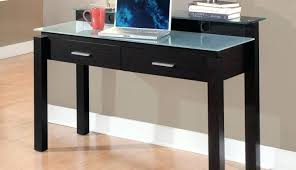 black glass office desk homebase corner appealing for shaped computer furniture adorable depot pull small licious