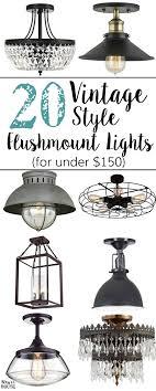 20 vintage inspired flush mount lights on a budget blesserhouse com